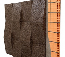 Pluta Expandata Decorativa 3D Taper 250x250x20-50mm