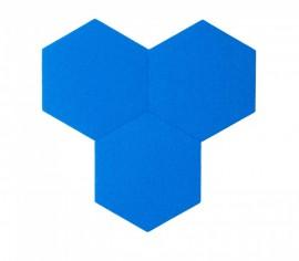 Hexagoane Autoadezive FELT Blue