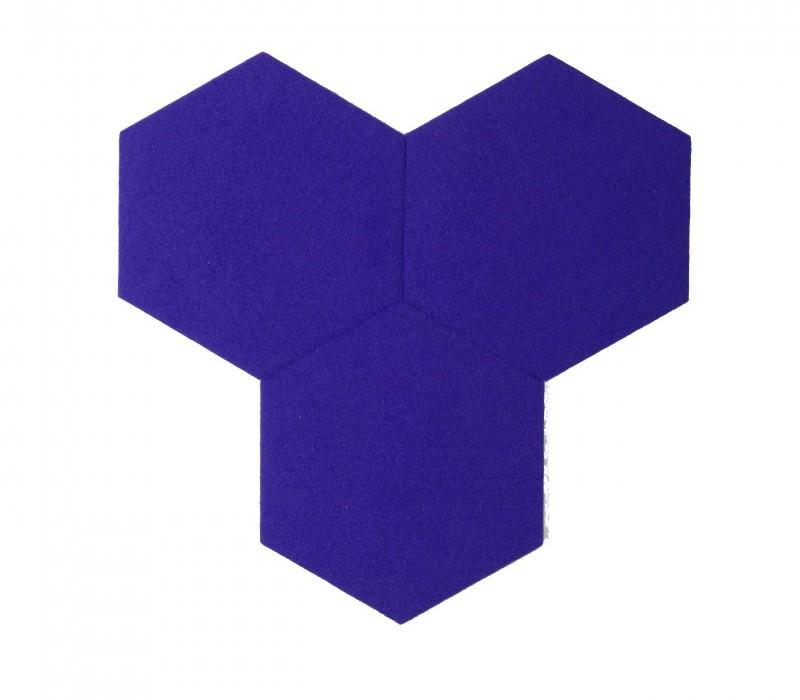 Hexagoane Autoadezive FELT Navy Blue
