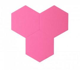 Hexagoane Autoadezive FELT Pink