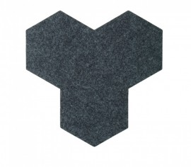 Hexagoane Autoadezive FELT Dark Grey