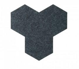 Hexagoane Autoadezive FELT Dark Grey