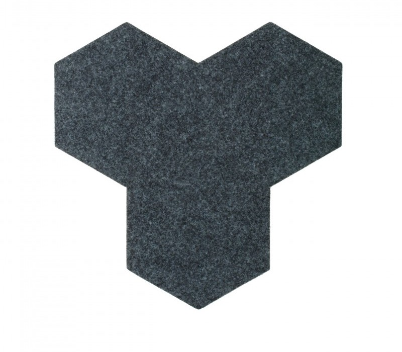 Hexagoane Autoadezive FELT Navy Blue