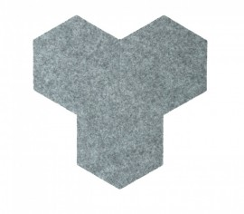 Hexagoane Autoadezive FELT Light Grey