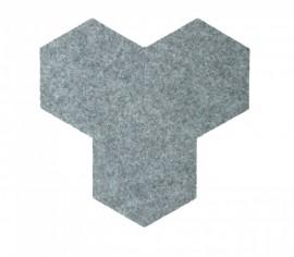 Hexagoane Autoadezive FELT Light Grey