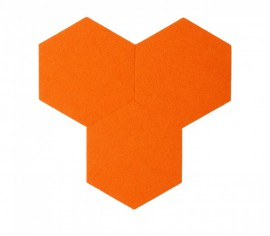 Hexagoane Autoadezive FELT Orange