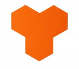 Hexagoane Autoadezive FELT Orange
