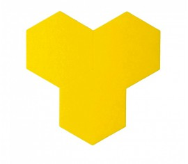 Hexagoane Autoadezive FELT Yellow