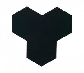 Hexagoane Autoadezive TEXTIL Black