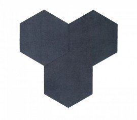 Hexagoane Autoadezive TEXTIL Dark Grey