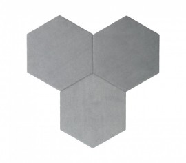 Hexagoane Autoadezive TEXTIL Light Grey