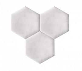 Hexagoane Autoadezive TEXTIL Silver