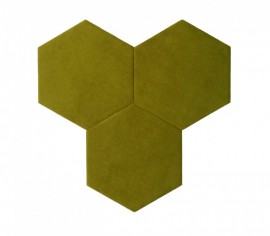 Hexagoane Autoadezive TEXTIL Olive