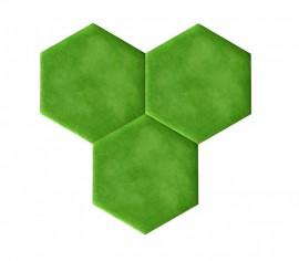 Hexagoane Autoadezive TEXTIL Green