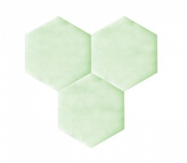 Hexagoane Autoadezive TEXTIL Light Green