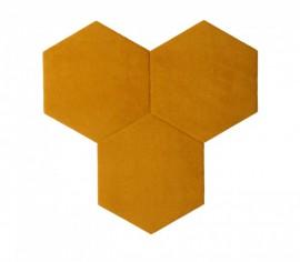 Hexagoane Autoadezive TEXTIL Gold