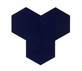 Hexagoane Autoadezive TEXTIL Deep Violet