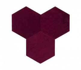 Hexagoane Autoadezive TEXTIL Purple