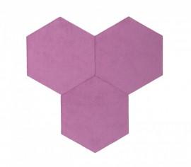 Hexagoane Autoadezive TEXTIL Violet
