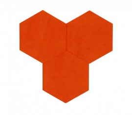 Hexagoane Autoadezive TEXTIL Orange