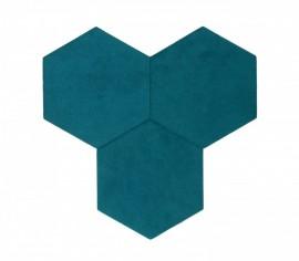 Hexagoane Autoadezive TEXTIL Deep Sky Blue