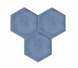 Hexagoane Autoadezive TEXTIL Blue