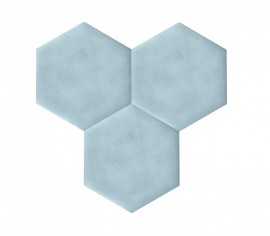 Hexagoane Autoadezive TEXTIL Light Blue