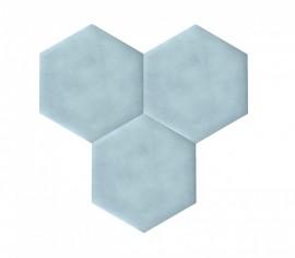 Hexagoane Autoadezive TEXTIL Light Blue