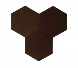 Hexagoane Autoadezive TEXTIL Brown